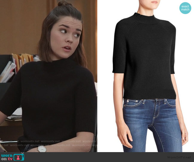 Jodi B Cashmere Sweater by Theory worn by Callie Foster (Maia Mitchell) on Good Trouble
