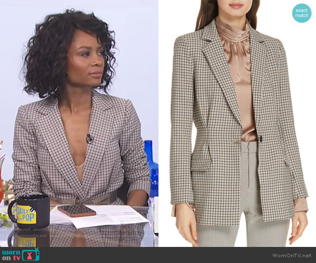 Martia C Blazer by Joie worn by Zuri Hall  on E! News