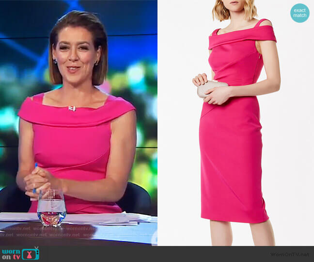 Pencil Bardot Dress by Karen Millen worn by Gorgi Coghlan  on The Project