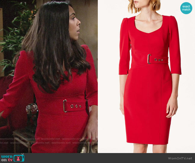 Karen Millen Corsetry Waist Pencil Dress worn by Kerry Johnson (Alice Hunter) on The Young & the Restless