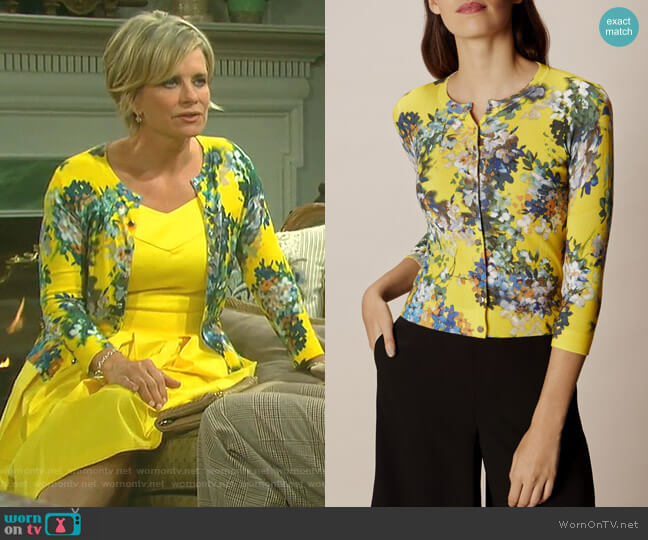 Floral Print Cardigan by Karen Millen worn by Kayla Brady (Mary Beth Evans) on Days of our Lives