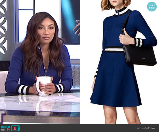 Sporty Fit-and-Flare Dress by Karen Millen worn by Jeannie Mai  on The Real