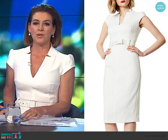 Tailored Belted Dress by Karen Millen worn by Gorgi Coghlan  on The Project