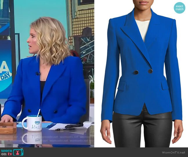 Corynne Jacket by Kobi Halperin worn by Sara Haines  on Good Morning America