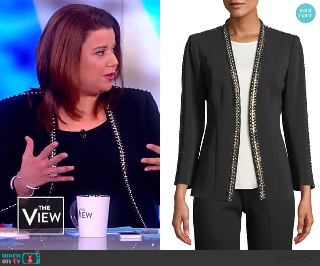 Ken Studded Blazer Jacket by Kobi Halperin worn by Ana Navarro  on The View