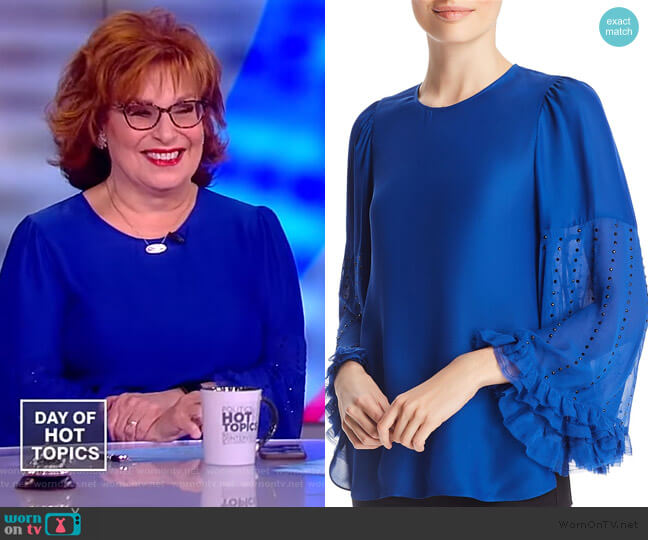 Ora Embellished Blouse by Kobi Halperin worn by Joy Behar  on The View