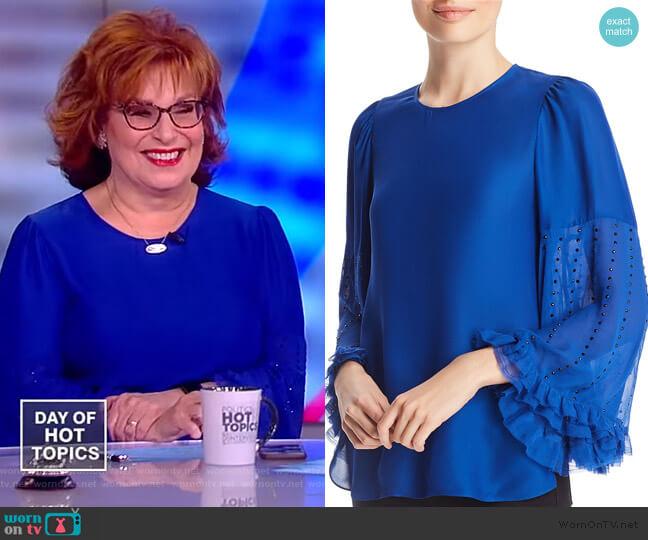 Ora Embellished Blouse by Kobi Halperin worn by Joy Behar (Joy Behar) on The View