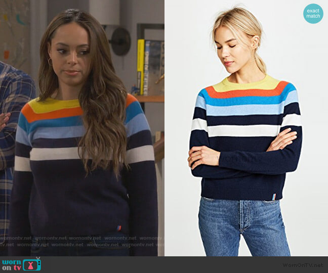 The Biminy Twist Cashmere Sweater by Kule worn by Claire (Amber Stevens West) on Happy Together