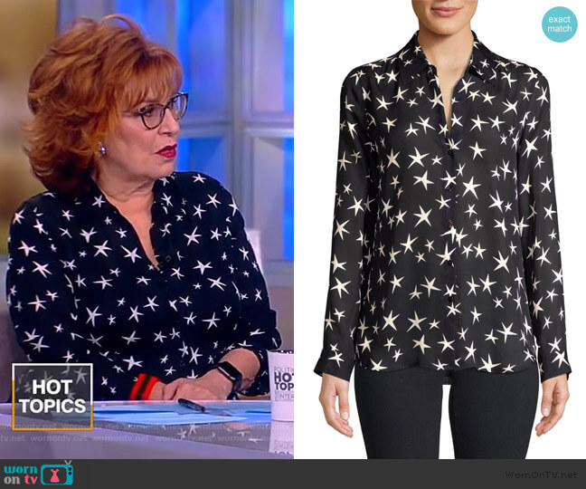 Nina Silk Blouse by L'Agence worn by Joy Behar (Joy Behar) on The View