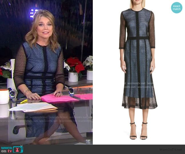 Lace Midi Dress by Victoria Beckham worn by Savannah Guthrie  on Today