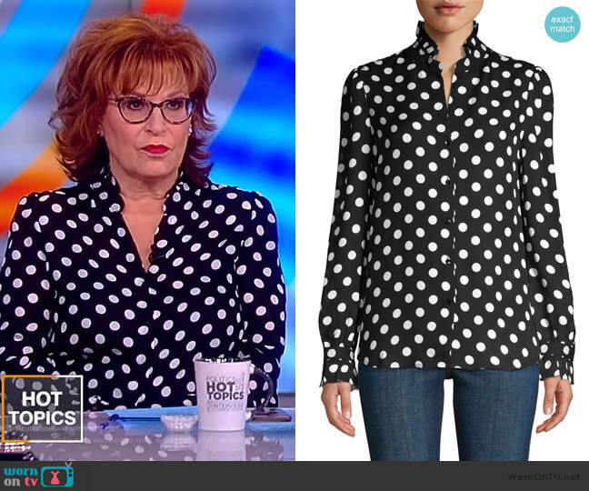 Carla Victorian Blouse by L'Agence worn by Joy Behar  on The View