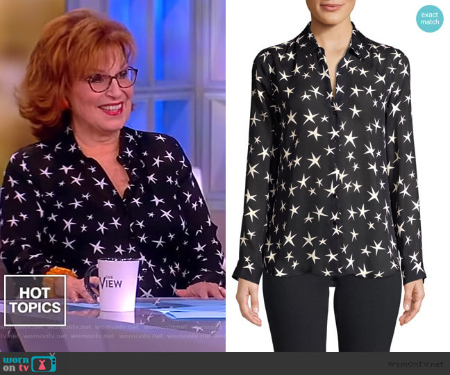 Nina Silk Blouse by L'Agence worn by Joy Behar on The View