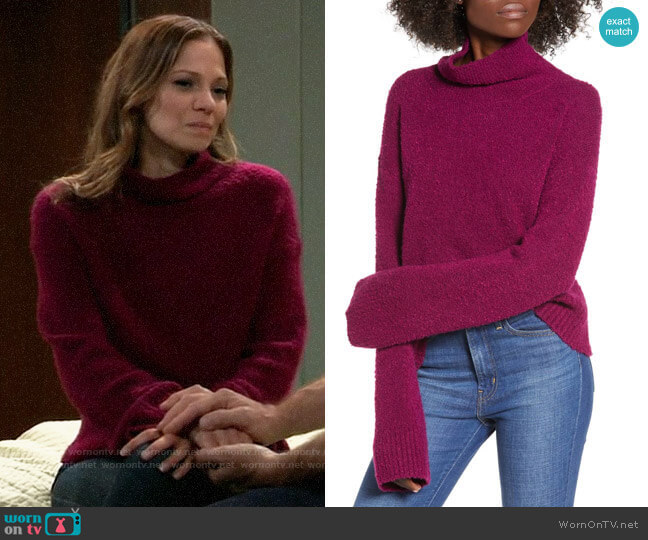 Leith Boucle Sweater worn by Kim Nero (Tamara Braun) on General Hospital