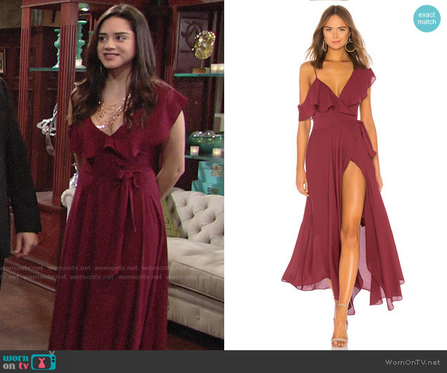 Likely Leilani Gown worn by Lola Rosales (Sasha Calle) on The Young & the Restless