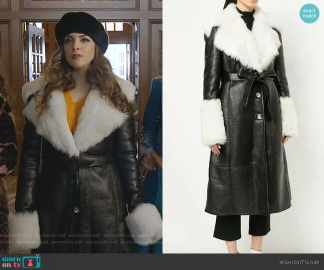 Hudson Coat by Magda Butrym worn by Fallon Carrington (Elizabeth Gillies) on Dynasty