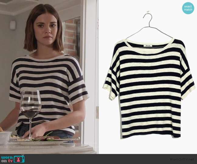 Boxy Sweater Tee by Madewell worn by Callie Foster (Maia Mitchell) on Good Trouble