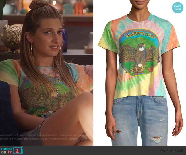 Grateful Dead Tie Dye Cropped Tee by MadeWorn worn by Nomi Segal (Emily Arlook) on Grown-ish