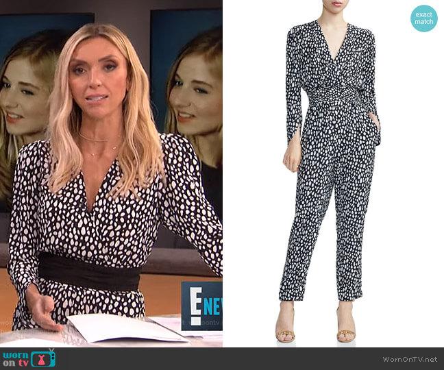 Posima Jumpsuit by Maje worn by Giuliana Rancic  on E! News