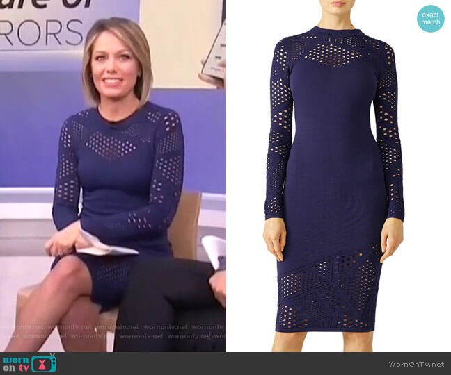 Lasercut Sheath Dress by Milly worn by Dylan Dreyer  on Today