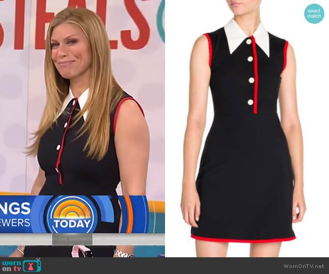Jersey Contrast Collar Dress by Miu Miu worn by Jill Martin  on Today