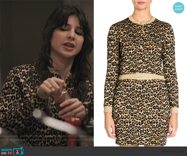 Leopard Print Cardigan by Miu Miu worn by Kathrine Herzer on Madam Secretary