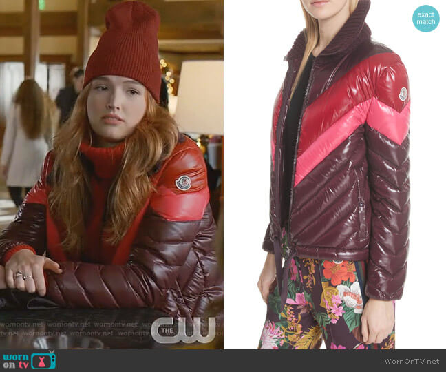 Albatros Down Puffer Jacket by Moncler worn by Kirby Anders (Maddison Brown) on Dynasty