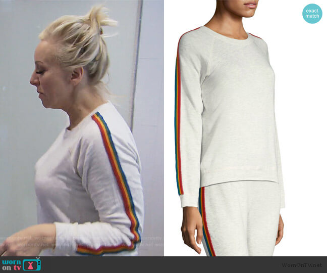 Vintage Rainbow Sweatshirt by Monrow worn by Margaret Josephs  on The Real Housewives of New Jersey