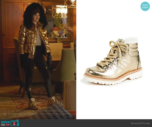 Margherita Hiker Boots by Montelliana worn by Kirby Anders (Maddison Brown) on Dynasty