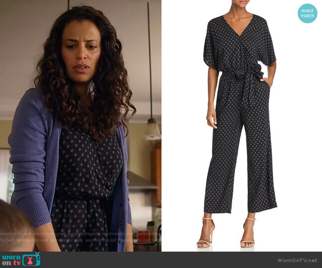 Vanette Printed Jumpsuit by Paige worn by Grace Stone (Athena Karkanis) on Manifest