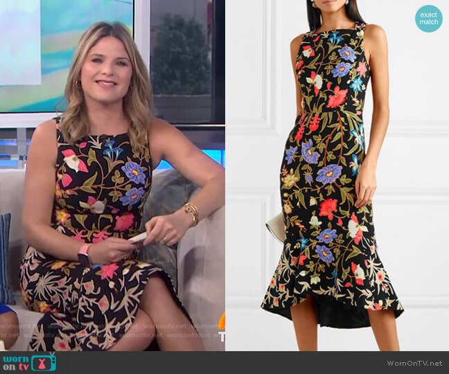 Kia Midi Dress by Peter Pilotto worn by Jenna Bush Hager  on Today