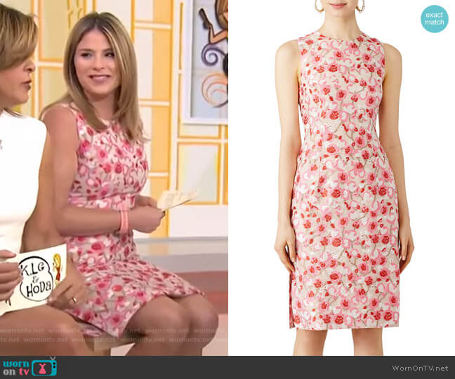 Floral Sheath Dress by Prabal Gurung worn by Jenna Bush Hager  on Today