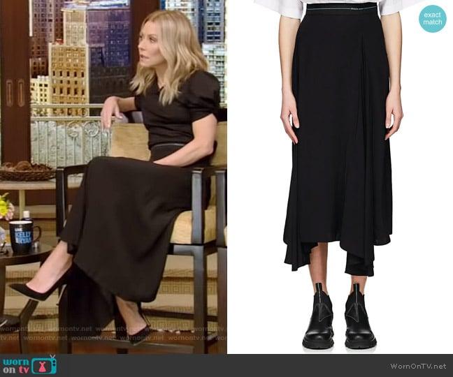 Pleated Godet Skirt by Prada worn by Kelly Ripa (Kelly Ripa) on Live with Kelly & Ryan