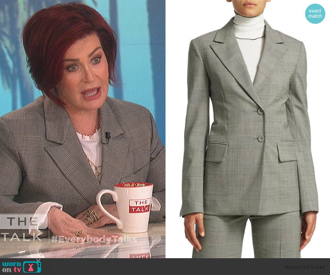 Single-Breasted Glen Check Blazer by Proenza Schouler worn by Sharon Osbourne  on The Talk