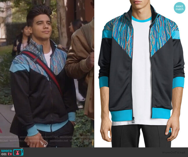 Googi Track Jacket by Puma worn by Vivek Shah (Jordan Buhat) on Grown-ish