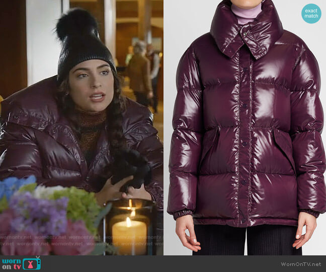 Quilted Down Jacket by Nina Ricci worn by Cristal Jennings (Ana Brenda Contreras) on Dynasty