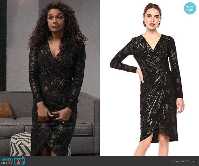 RACHEL Rachel Roy Lauren Dress worn by Jordan Ashford (Briana Nicole Henry) on General Hospital