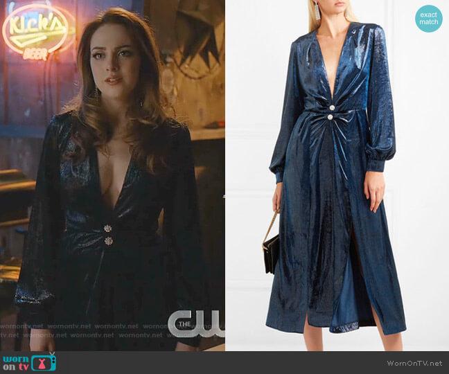 Christy Dress by Raquel Diniz worn by Fallon Carrington (Elizabeth Gillies) on Dynasty