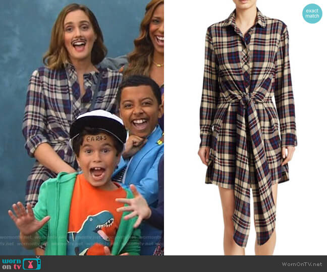 Felicity Plaid Shirtdress by Rag & Bone worn by Angie (Leighton Meester) on Single Parents