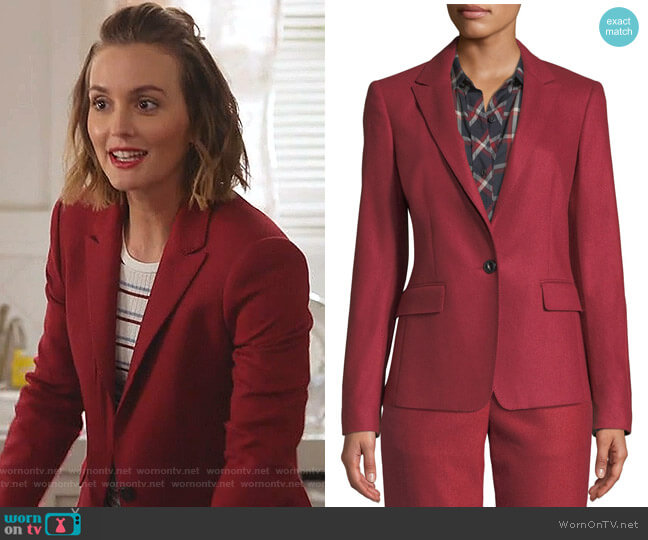 Lexington Blazer by Rag & Bone worn by Angie (Leighton Meester) on Single Parents