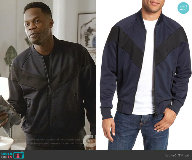 Colorblock Bomber Jacket by Rag & Bone  worn by Jeff Colby (Sam Adegoke) on Dynasty