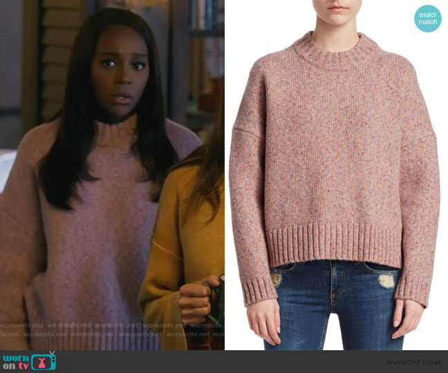 Erika Wool Pullover by Rag & Bone worn by Michaela Pratt (Aja Naomi King) on HTGAWM