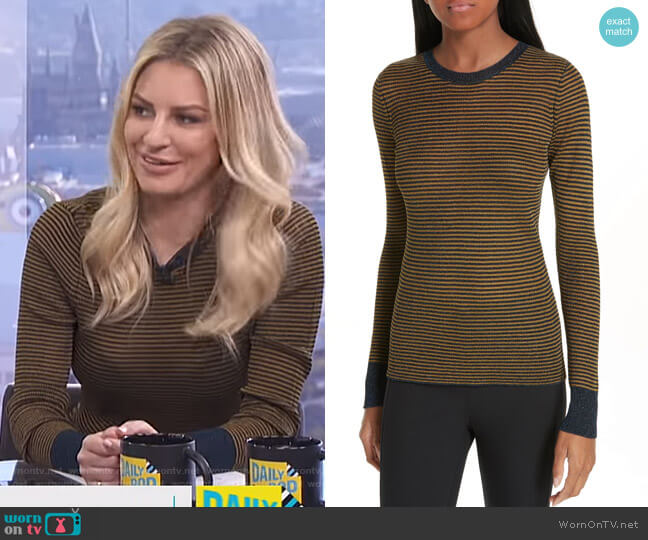 Raina Sweater by Rag & Bone worn by Morgan Stewart  on E! News