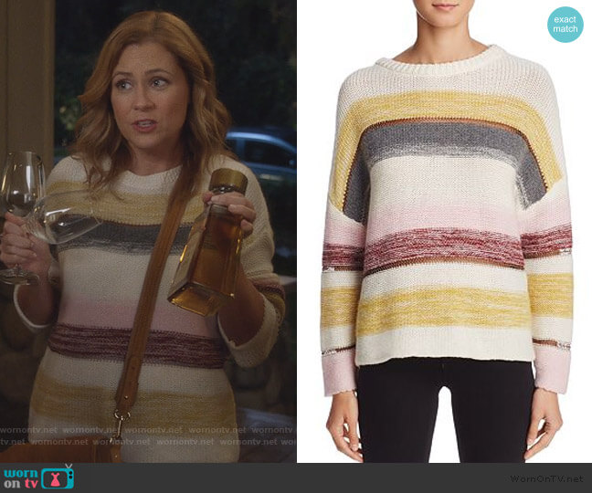 Daphne Stripe Sweater by Rails worn by Lena (Jenna Fischer) on Splitting Up Together