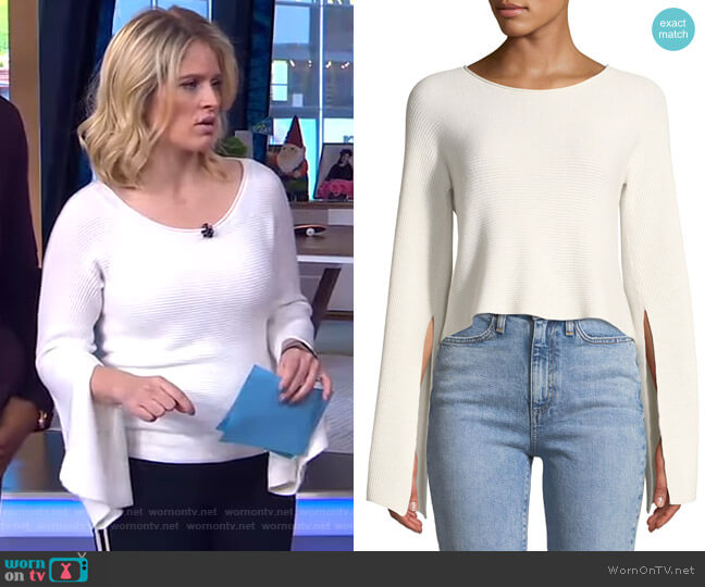 Audrina Top by Ramy Brook worn by Sara Haines  on Good Morning America