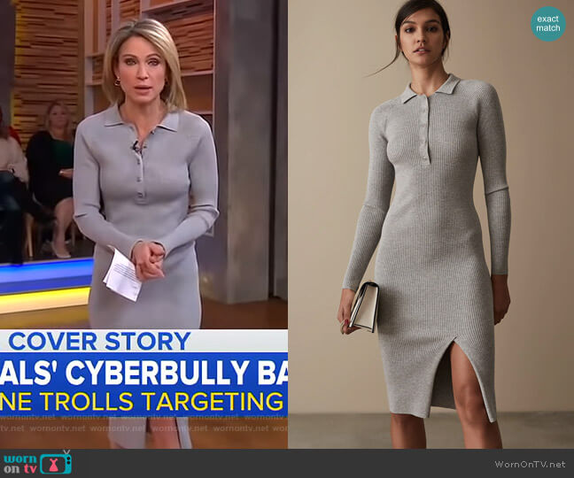 Louise Dress by Reiss worn by Amy Robach  on Good Morning America