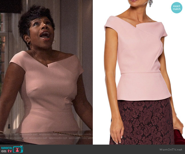 Elmswell Top by Roland Mouret worn by Rose (Sheryl Lee Ralph) on Fam