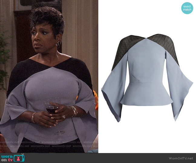 Harthill Top by Roland Mouret worn by Rose (Sheryl Lee Ralph) on Fam