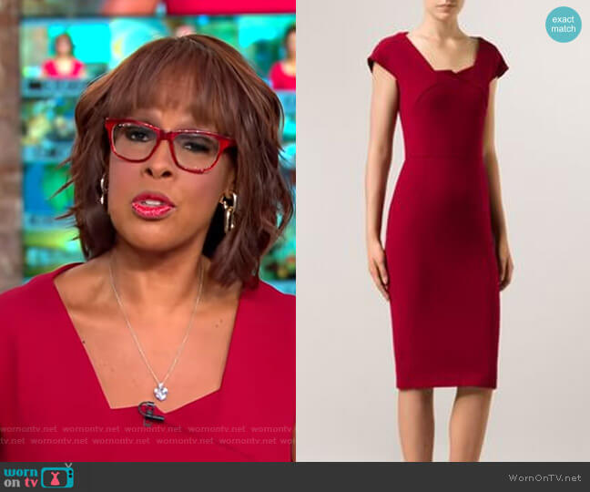 Hirta Dress by Roland Mouret worn by Gayle King (Gayle King) on CBS This Morning