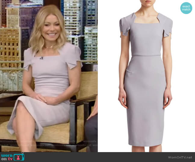 Royston Dress by Roland Mouret worn by Kelly Ripa (Kelly Ripa) on Live with Kelly & Ryan