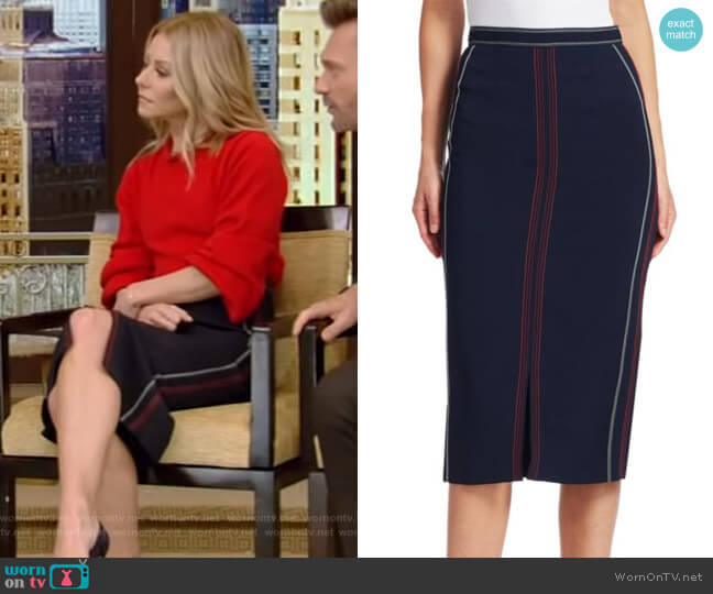 Tracy Pencil Skirt by Roland Mouret worn by Kelly Ripa  on Live with Kelly & Ryan